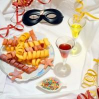 casafacilefelice.org, stelle filanti colorate,dolce di carnevale,