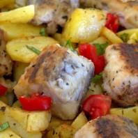 barracuda al forno con patate