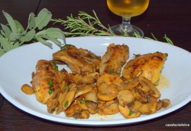 pollo e funghi