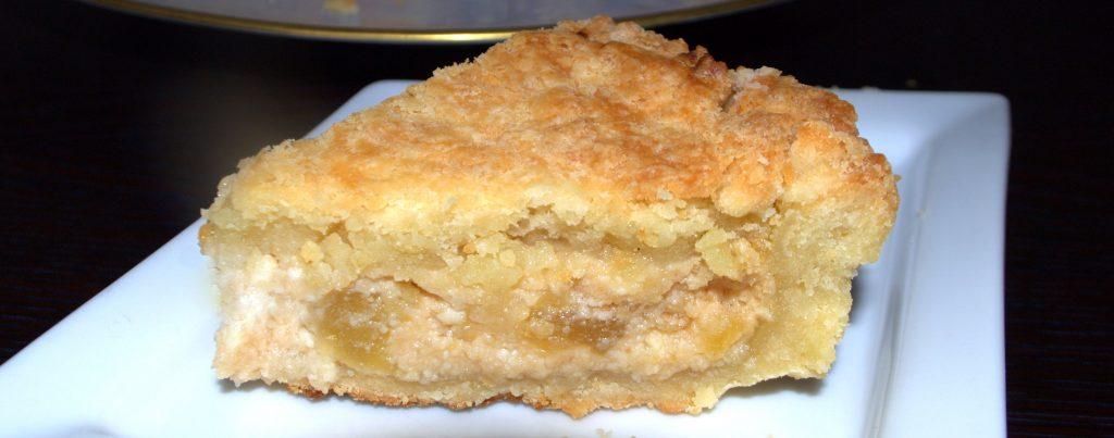 crostata ripiena ricotta e mele